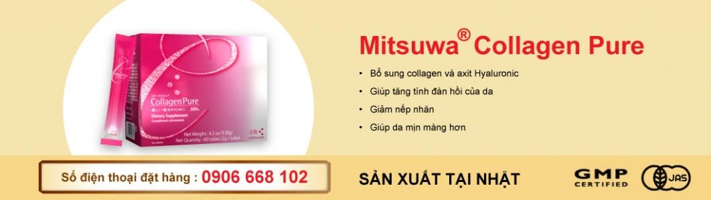 Mitsuwa collagen Pure J-Kendai - thực phẩm chức năng của nhật bổ sung collagen