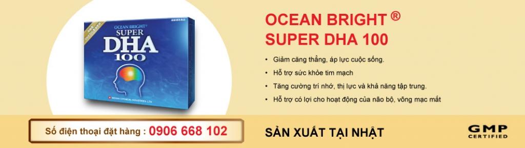 Oceanbright Super DHA 100 - Thực phẩm chức năng chống lão hóa, tăng cường trí nhớ
