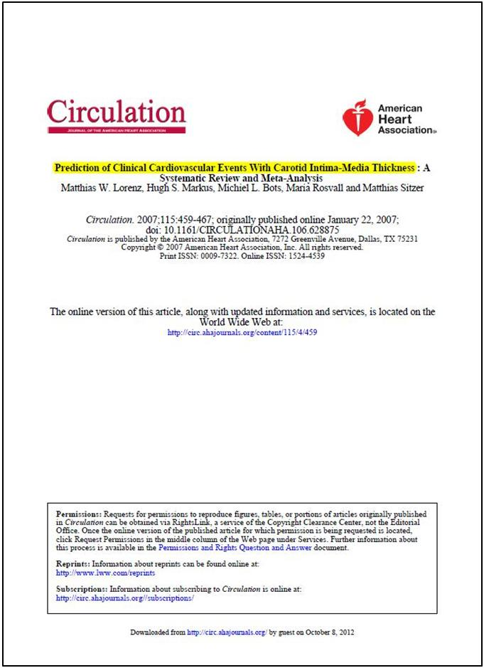Dự đoán các biến cố tim mạch lâm sàng bằng độ dày nội trung mạc động mạch cảnh
